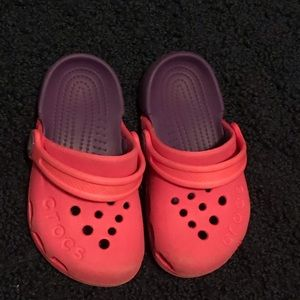 CROCS Shoes - Size 7 Toddler Crocs pink & purple